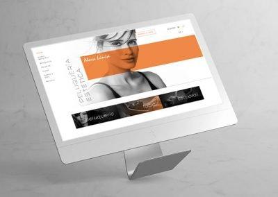 NOVALINIA centro de estética. Diseño web con tienda online.