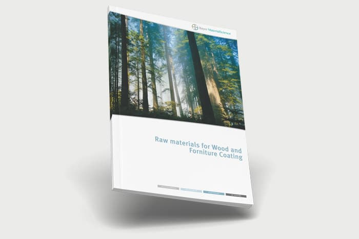 Bayer, catálogo de productos. «Raw materials for Wood and forniture coating»