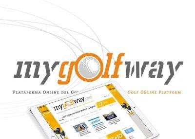 MyGolfWay, diseño cabecera editorial online de golf
